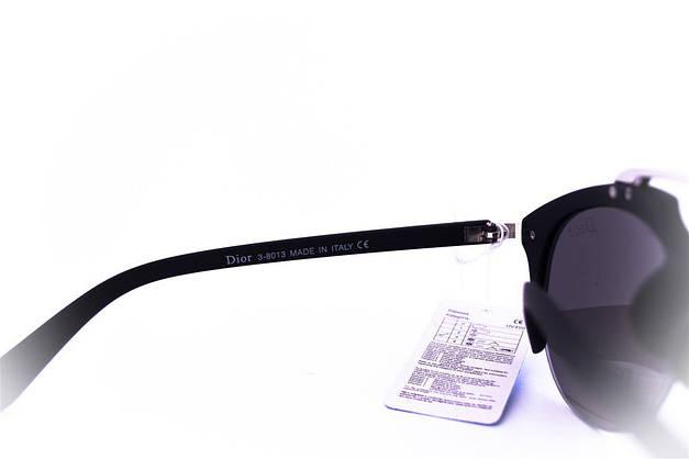 Модные солнцезащитные очки Dior Clubmaster - Черные - 8013, фото 3