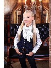 Школьная блузка для девочки Школьная форма для девочек MONE Украина 1394-8 Белый