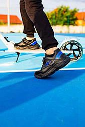 Детские кроссовки на липучках, размеры 25-30, замеры внутри (Черные)