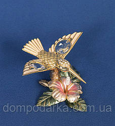 """Композиция """"Колибри на цветке"""" (Юнион) подарок женщине"""