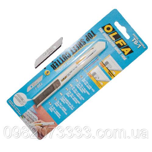 Нож Olfa антигравийный (14см). Полимерный материал корпуса стойкий к растворителям, кислотам