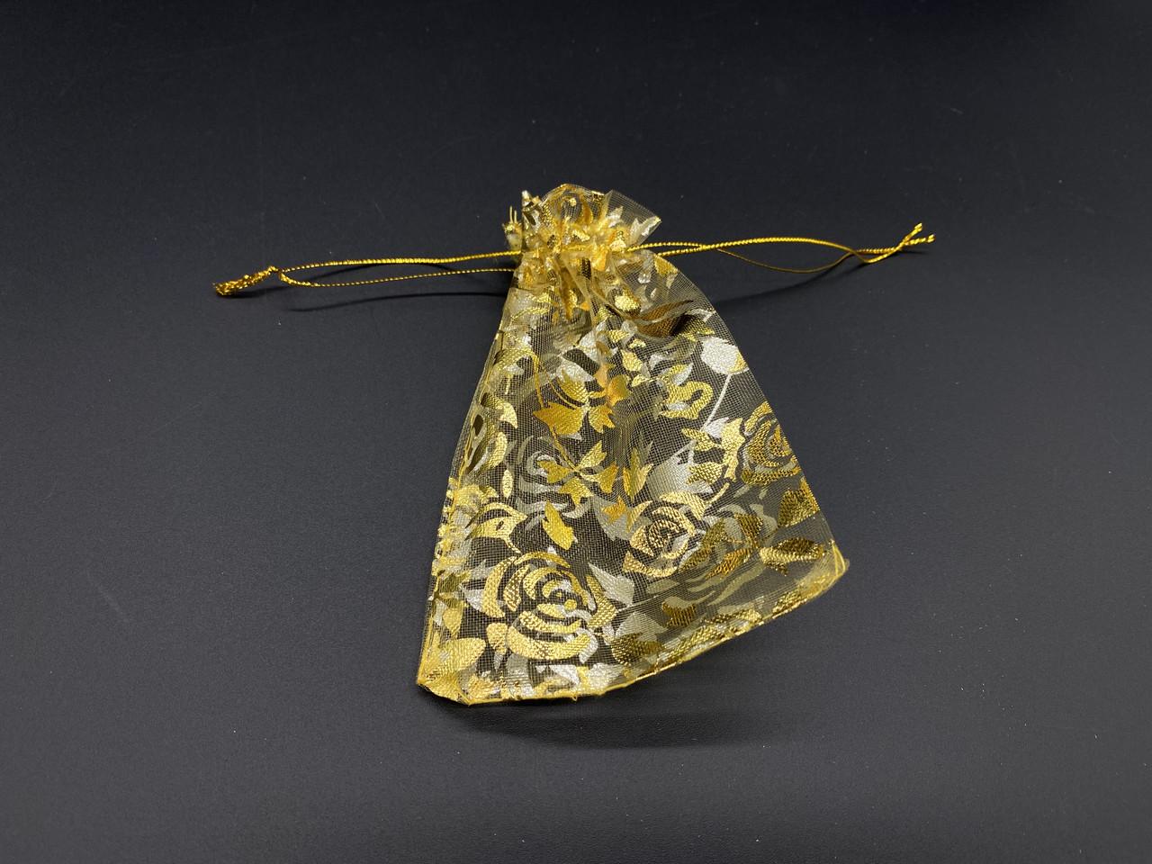 Подарочные мешочки из органзы. Цвет золото. 9х12см