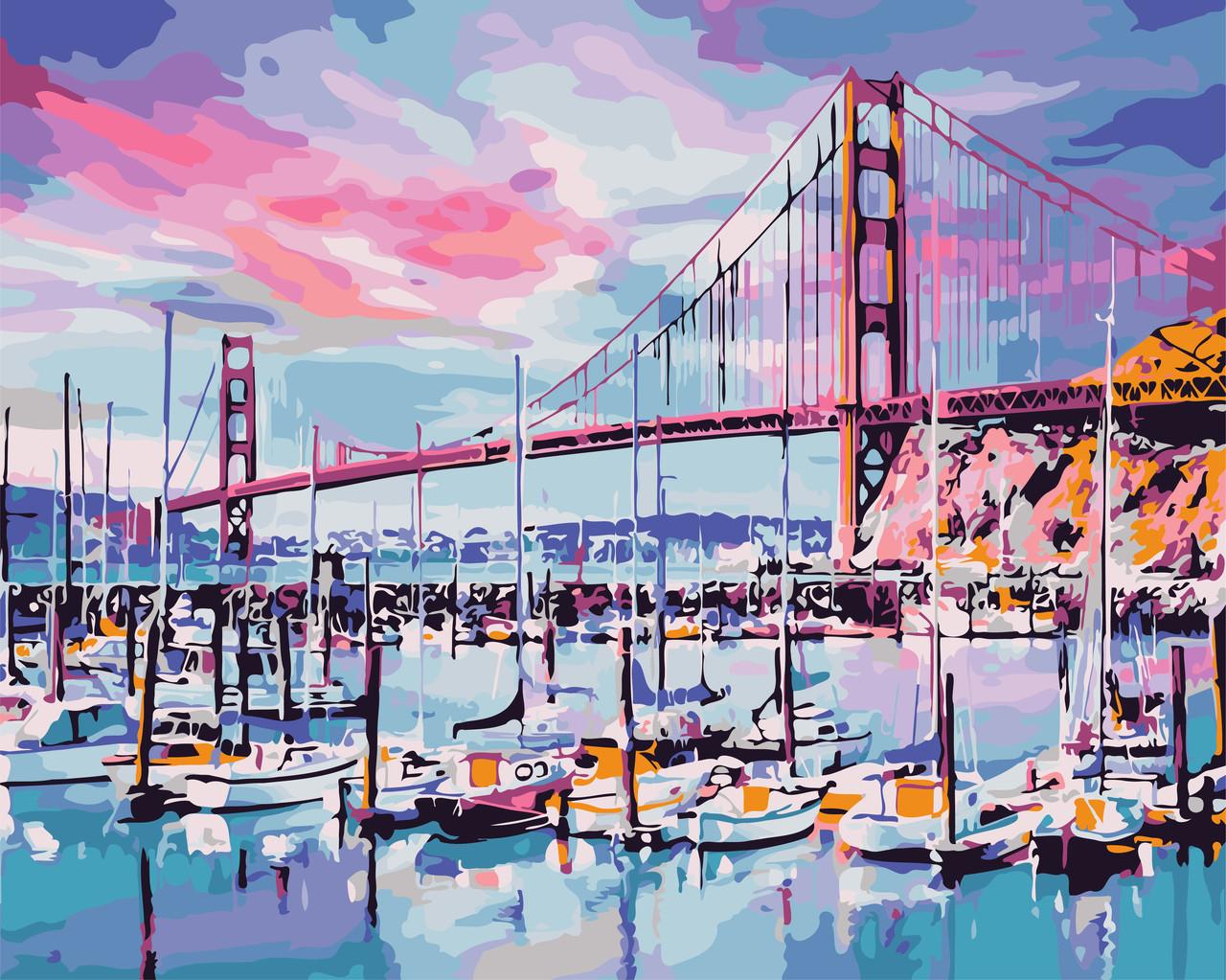 Картина по номерам - Мост Золотые ворота ArtStory 40*50 см. (AS0690)