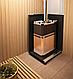 Дровяная печь-каменка Теплодар Русь 18 ЛНЗП профи с ГЛП, нагрев воды, генератор легкого пара, фото 5