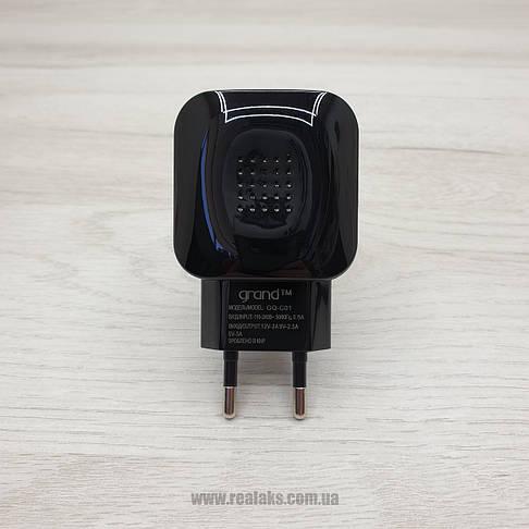 Мережевий зарядний пристрій Grand Charge USB 3.1A Micro (чорний), фото 3