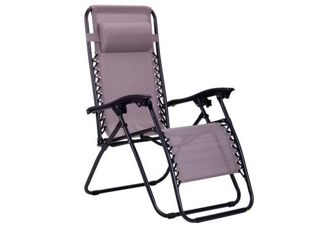 Садовое кресло-шезлонг трансформер с подголовником, раскладное 180*65*115см MH-3070