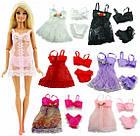 Набор для куклы Барби, трусики, лиф и пеньюар, цвет на выбор, фото 2