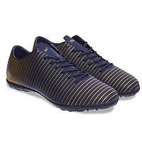 Сороконожки шиповки мужские Обувь для футбола Pro Action Синий-золотой (VL17562-TF45-NGD) 40