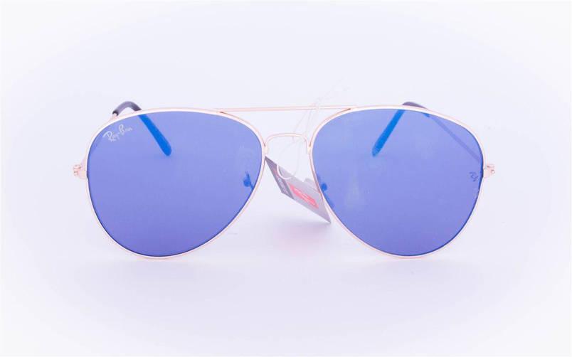 Брендовые солнцезащитные очки Aviator с цветными зеркальными линзами - RB-1, фото 2