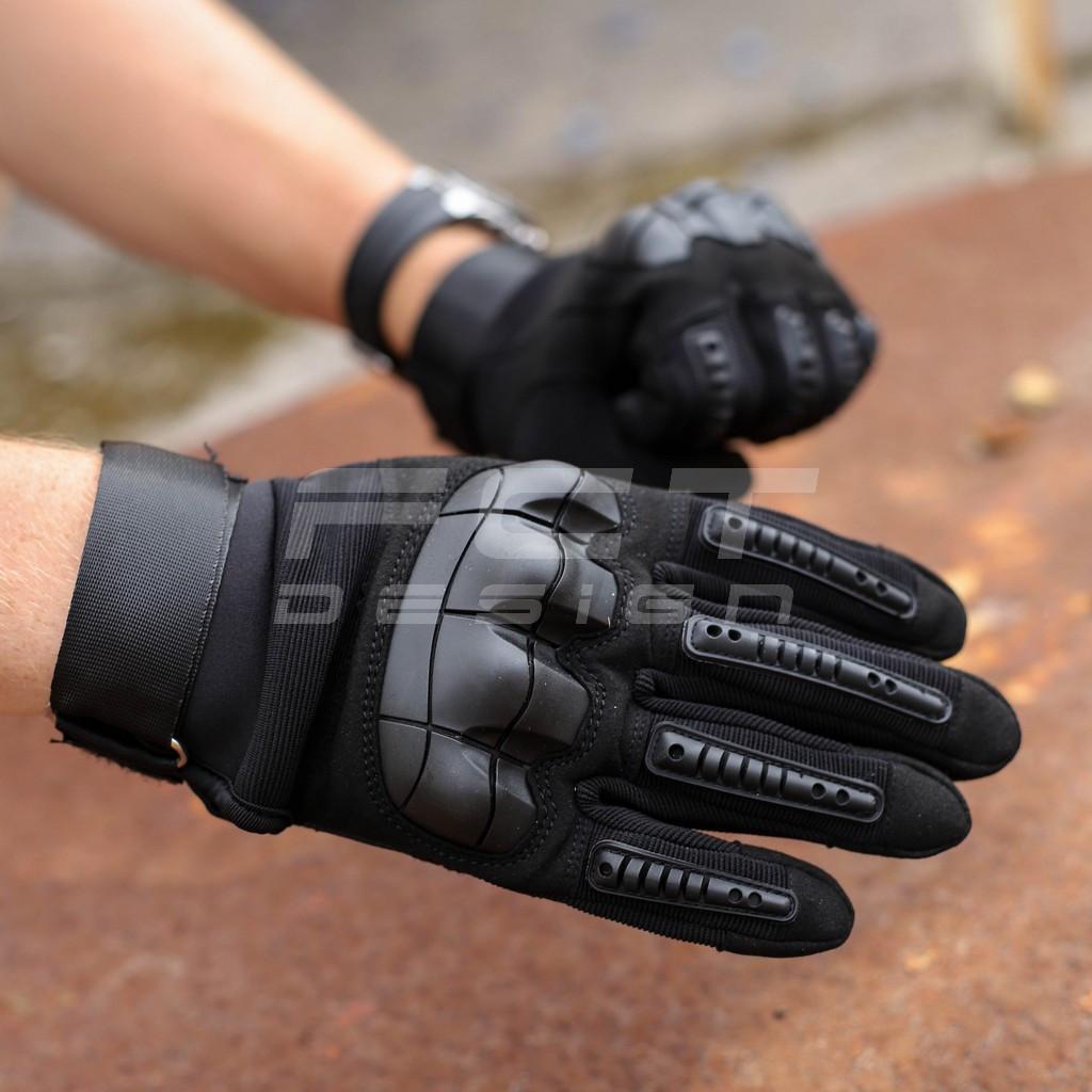 Перчатки Тактические Каучук защитные черные