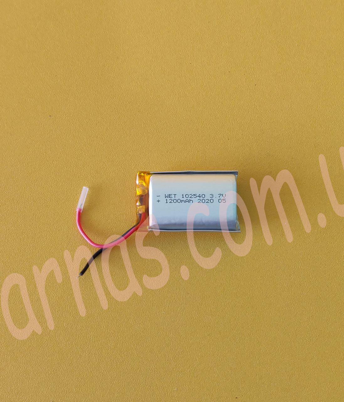 Акумулятор WET 102540 3.7 v 1200 mAh