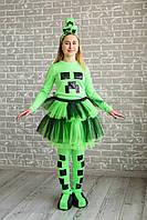 Карнавальный костюм для аниматоров Майнкрафт для девочки