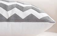 Декоративная подушка (наволочка) Коллекция Prominent Gray с вышивкой, фото 4