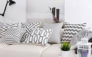 Декоративная подушка (наволочка) Коллекция Prominent Gray с вышивкой, фото 5