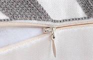 Декоративная подушка (наволочка) Коллекция Prominent Gray с вышивкой, фото 3