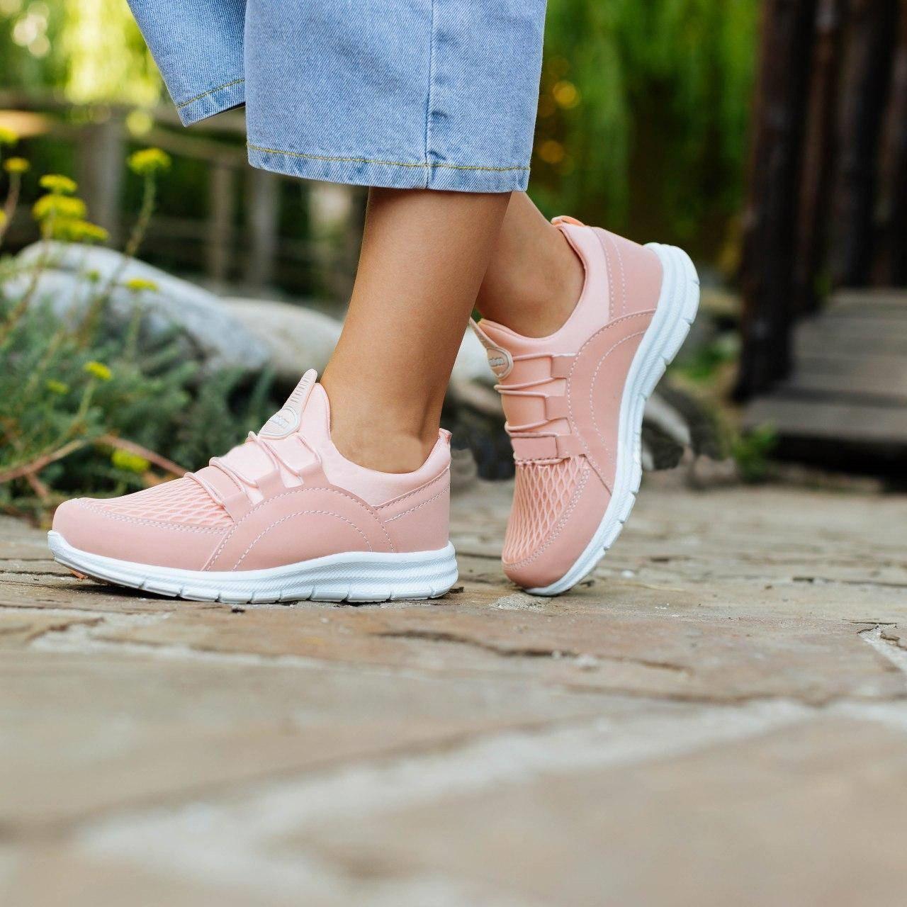 Детские кроссовки, размеры 31-35 (Розовые)