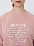 Розовый свитшот с надписью размер S, фото 3