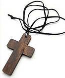 Дерев'яний Хрест на Шнурку Кожанном, фото 4