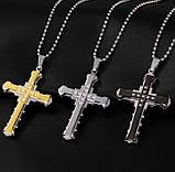 Мужской Крестик с Цепочкой из Нержавеющей Стали Крест, фото 2