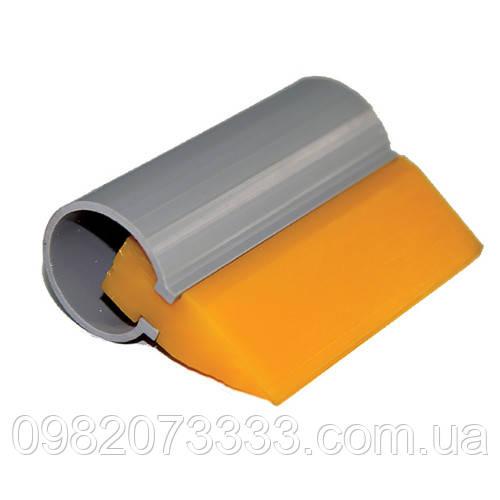 Поливинил жёлтый 10см (100х50мм). В комплекте может поставляться пластиковая трубка, которая служит держателем