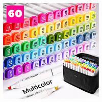 Набор двусторонних маркеров Touch для рисования и скетчинга на спиртовой основе 60 цветов