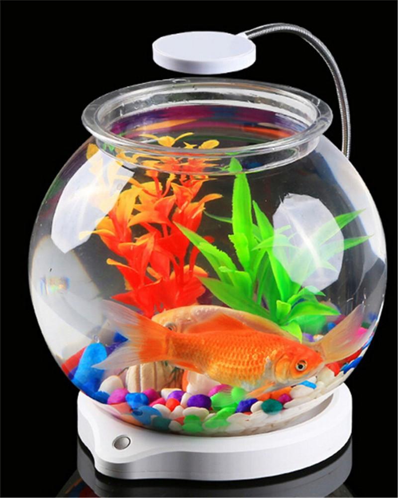 Круглый аквариум 4 л со светильником SunSun ATS-180