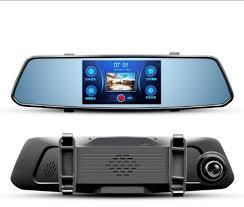 """Видеорегистратор зеркало 5""""дюймов Сенсорное DVR X10 Full HD 1080P на 2 камеры!"""