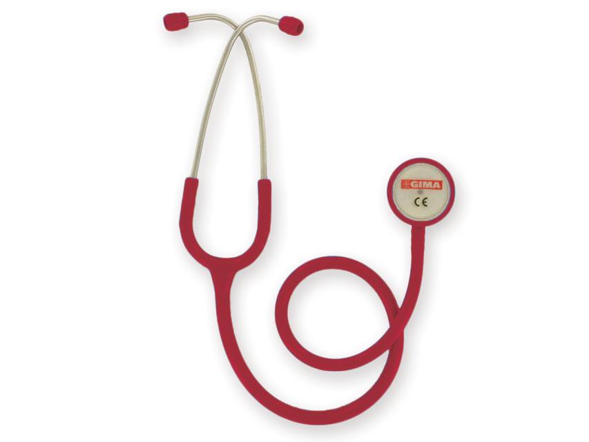 Стетоскоп терапевтический GIMA, двухсторонний для прослушивания тонов сердца и легких, БОРДОВЫЙ, Италия