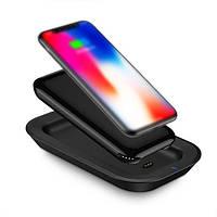 Беспроводная зарядка Grand Power Bank Dual-Use Wireless Charger Power Bank 10000 mAh Black AL5157, КОД: 1721700