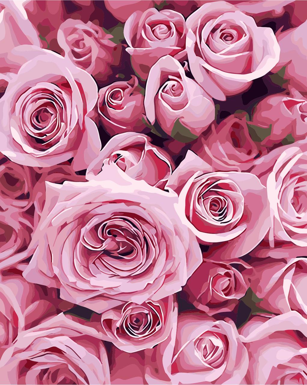 Картина по номерам - Розы ArtStory 40*50 см. (AS0248)