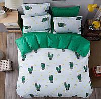 Постельное белье с кактусами, полуторное