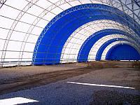 Зернохранилище быстровозводимое , каркасно - тентовые конструкции