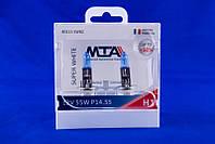 Лампа автомобильная MTA H1 12V 55W P14.5S SUPER WHITE 2 шт 028582, КОД: 1753245