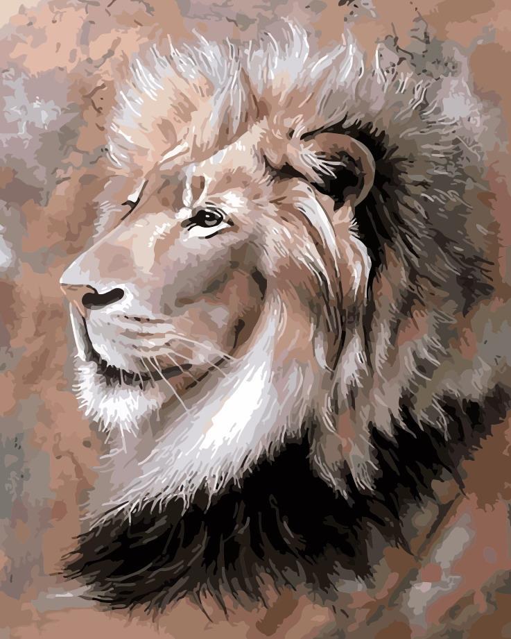 Картина по номерам - Царь зверей ArtStory 40*50 см. (AS0174)
