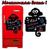 Меловая доска на холодильник Обезьянка (размер 30х40см)
