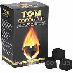 Кокосовый уголь Tom Cococha Gold 1кг (72 шт), большой кубик