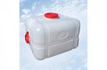 Бочка квадратная пищевая 100 литров с выходом под кран