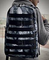 Рюкзак модний міський молодіжний якісний з принтом Дим Intruder чорний, фото 1