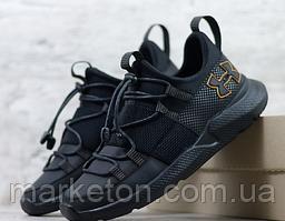 Чоловічі шкіряні кросівки Чорні Under Armour