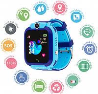 Смарт-часы Edelin KID Watch Детские Умные часы с влагозащитой IP67 голубые