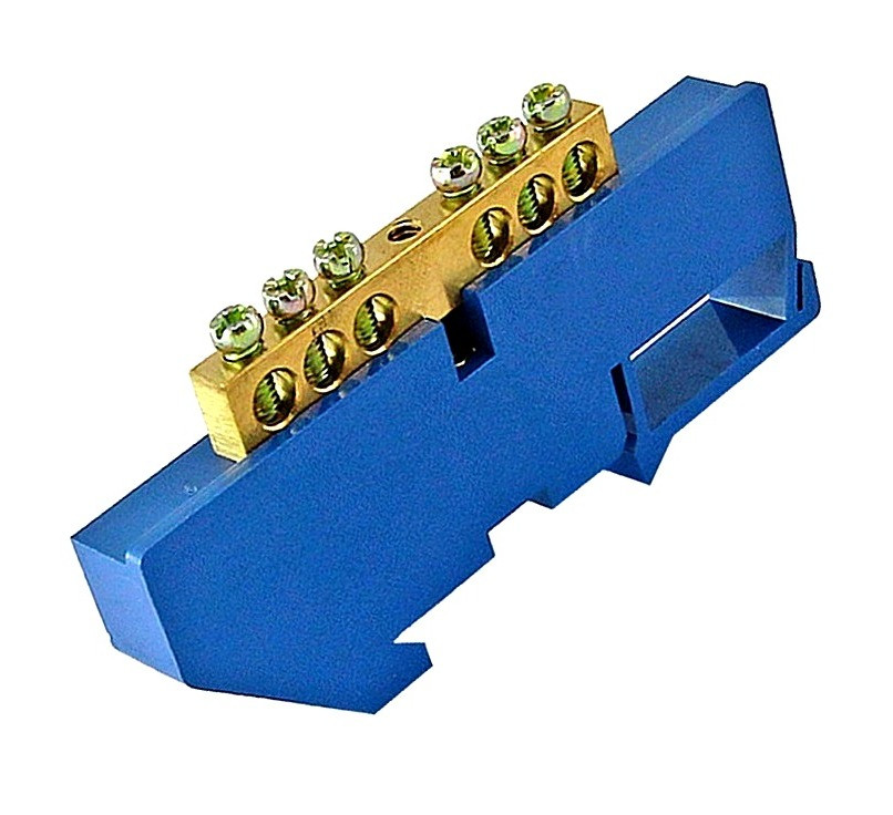 Шина ізольована «N» на DIN-рейку ШЛІ 8х12-6 TechnoSystems TNSy5500191