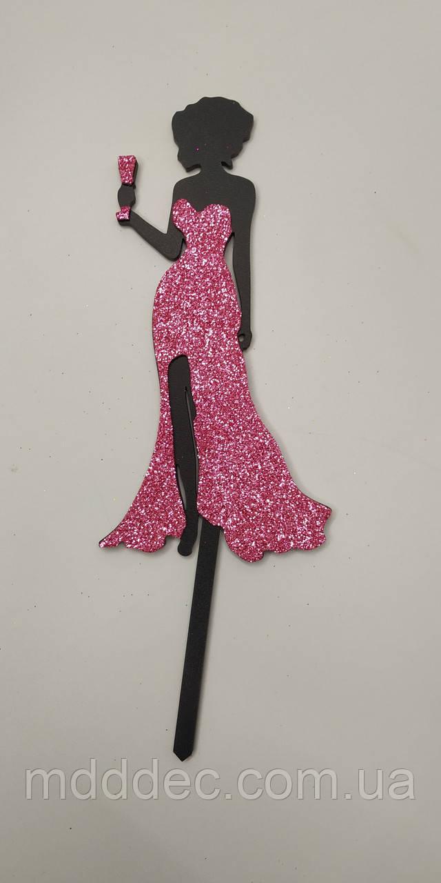 Топпера принцесса цветная.Светло розовый