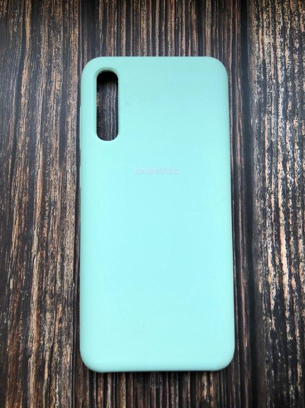 "Чехол Samsung A50S №44 ""Яркий изумруд"" Silicon Case"