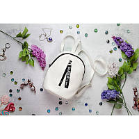Женский рюкзак Sambag Valabi с лентой 24*19*10 см белый, фото 1