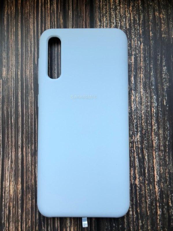 """Чехол Samsung A50 - """"Кремово-лиловый №5"""""""