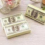 Одноразовые бумажные салфетки 100 долларов 10 шт. Салфетки в виде денег 100 долларов. Денежные салфетки, фото 2