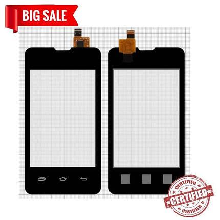 Сенсор (тачскрін) для Prestigio MultiPhone 3350 Duo, Explay A351 чорний, фото 2