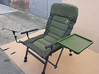 Кресло карповое со столиком и подставкой для спиннинга.Carp Elektrostatyk FK6 ST/P .Есть самовывоз в Киеве.