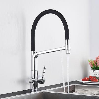 Смеситель для кухонной мойки  Water Filter Faucet c каналом питьевой воды (никель)