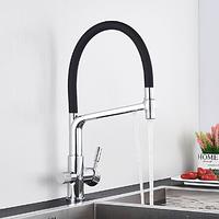 Смеситель для кухонной мойки  Water Filter Faucet c каналом питьевой воды (никель), фото 1